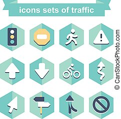 icons sets of traffic