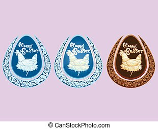 Carved Style Easter Egg Set v2 - A lovely Easter egg...