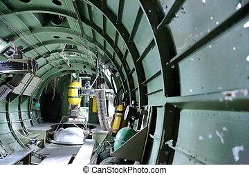 B, 17, bombowiec, Wojna, Ptak,