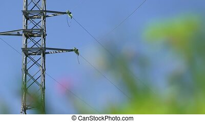Power Line - Power line against the beautiful blue sky....