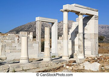 Demeter Naxos - Temple of Demeter at the Naxos island in...