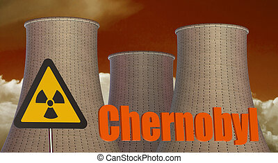 Chernobyl Radiation area concept isolated on white...