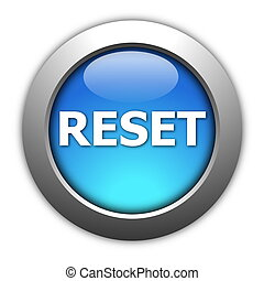 reset button - computer reset button illustration isolated...