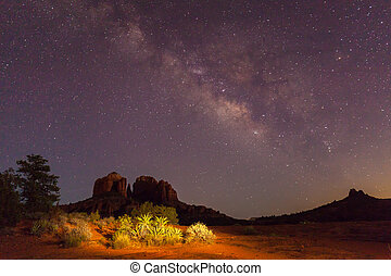 Cathedral Rock Milky Way - the milky way over cathedral rock...