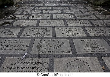 Ubud Walk of Fame, Bali reserves its concrete sidewalk for...
