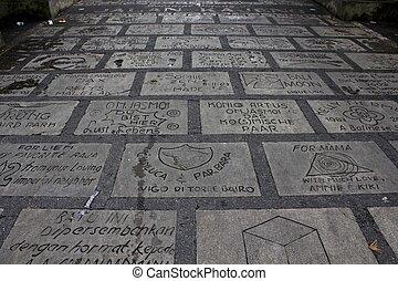 Ubud Walk of Fame, Bali reserves its concrete sidewalk for...