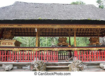 Altar for worship in Tirta Empul site in Bali