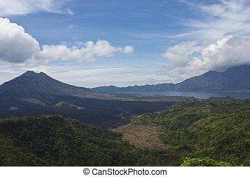 Mount Batur volcano landscape