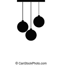 chandelier silhouette ball black vector