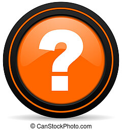 question mark orange icon ask sign