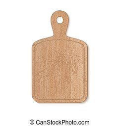Kitchen cutting board - Wooden cutting board on white...