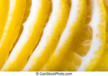 lemon slices - group of lemon slices close up background