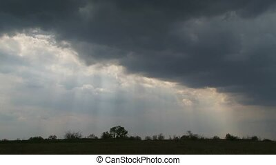 Storm Clouds - Sky was covered with storm clouds through...