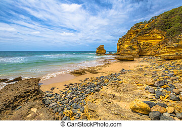 Great Ocean Road Victoria - The stones of limestone of Step...