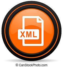 xml file orange icon