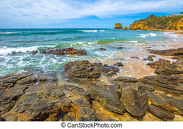 Aireys Inlet Victoria - Step Beach in Eagle Point Marine...
