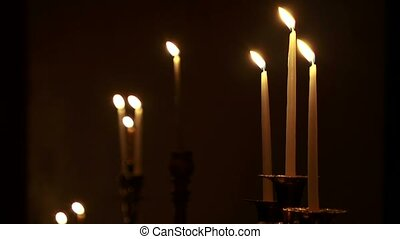 Few Candles - Changing focus from background to foreground....