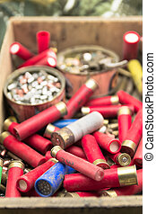 old material to reload ammunition for hunting
