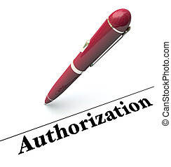 Authorization Pen Signing Approval Official Authority...