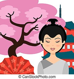 japanese culture design, vector illustration eps10 graphic