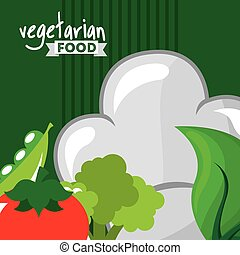 vegetarian food design, vector illustration eps10 graphic