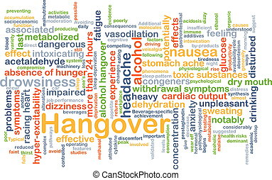 Hangover background concept - Background concept wordcloud...