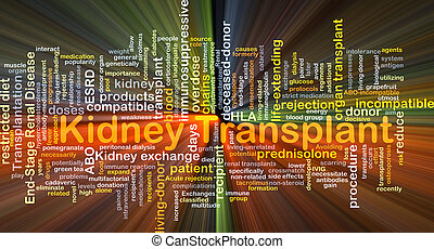 Kidney transplant background concept glowing - Background...