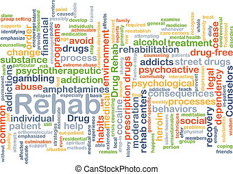 Rehab background concept - Background concept wordcloud...