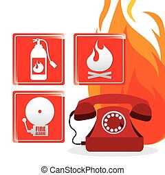 emergency concept design, vector illustration eps10 graphic
