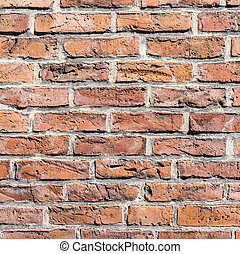 fragment of red brick wall - background with fragment of red...