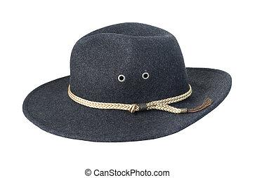 Oscuridad, fieltro, sombrero