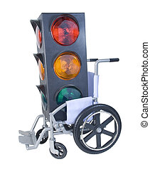 Traffic Light in a Wheelchair
