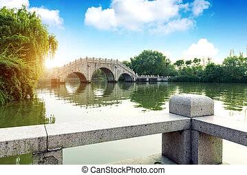 Chinese traditional building bridges.