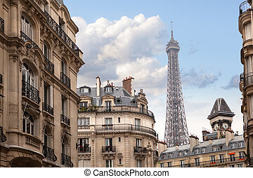 Eiffel tower in Paris, France - Eiffel tower in Paris. View...