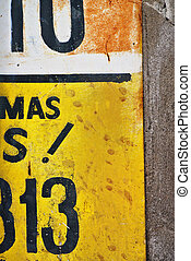 Letter detail of handpainted advertising sign - Photograph...