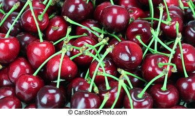 Fresh, ripe, juicy cherries Rotate of clockwise Loopable HD...