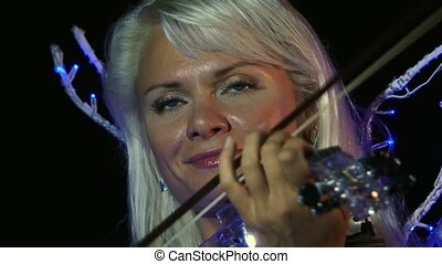 She Passionately Plays The Violin