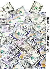 Money pile - Pile of one hundred dollar bills new and old...