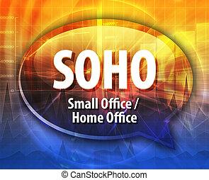 SOHO acronym word speech bubble illustration - word speech...