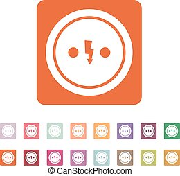 The Electrical Outlet icon. Socket symbol. Flat Vector...