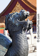 Dragon Tortise Bronze Statue  Gugong, Forbidden City Emperor\'s Palace Built in the 1400s in the Ming Dynasty