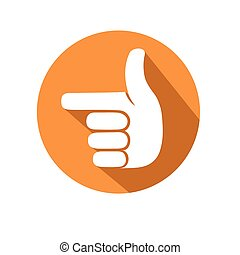 pointing gesture - this is anillustration of pointing...