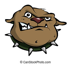 Cartoon Bulldog - A mean-looking cartoon bulldog.