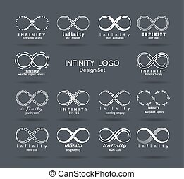Set of vector infinity logo design