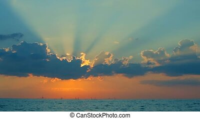 Fantastic Sun Rays From Behind The Clouds - Fantastic...