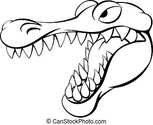 Alligator or crocodile cartoon character - An alligator or...