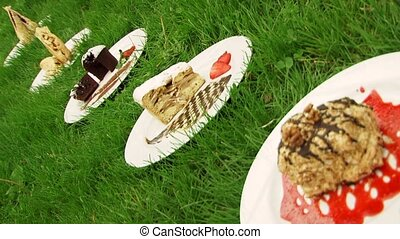 Desserts On The Grass