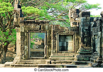 Temple in Angkor - A temple in the central Angkor thom,Siem...