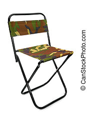 fishing camp-chair on a white background