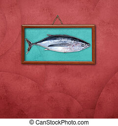 Albacore picture frame - Albacore, picture hanging on a wall...